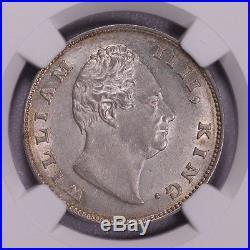 Ngc-ms63 1835 India William IIII Rupee Silver Luster