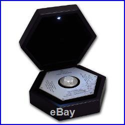 Niue $2 Dollars, 44g 3D Pure Silver Diamond 0.1 ct Coin, 2016, Brilliant Cut, Mint