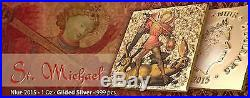 Niue 2015 2$ World Heritage St. Michael 1 Oz Gilded Silver Coin