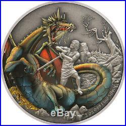 Niue 2020 2 OZ Silver Proof Coin- Dragons The Norse Dragon