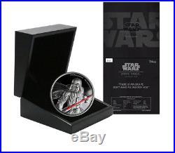 Niue Disney Star Wars $5 Dollars, 2 oz. Silver Proof Coin, 2017, Mint, Darth Vader