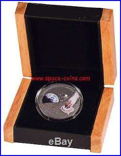 Niue Islands 2015- Lunar Meteorite NWA 5000, $1, ONLY 500 MADE! Moon Meteorite