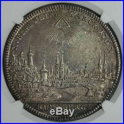 Nurnberg 1765 City View Silver Thaler NGC AU