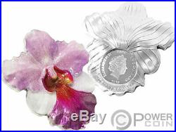 ORCHID Shape World Enchanting Flower 1 Oz Silver Coin 2$ Niue 2020