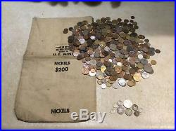 Over 1 Ounce Of Silver 5 Mark & 5 Pounds World Coins & Vintage Us Mint Bank Bag