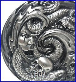 PANDORA BOX Evil Within EHR Epic High Relief 3 Oz Silver Coin 20$ Palau 2019