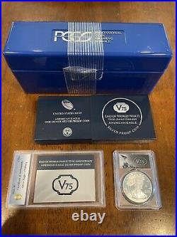 PCGS PR70 End of World War II 75th Anniversary American Eagle Silver Proof Coin