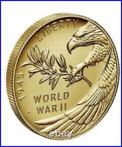 PRESALE 2020 End of World War II 2 WW2 75th Anniversary 24 K Gold Coin