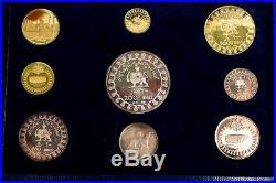 Persia 2500th Anniversary Of Persian Empire, Complete Gold & Silver Coin Set