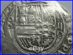Philip II 2 Real Cob Mexico Spain Colonial Assayer O Silver Coin Spanish