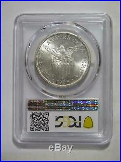 Philippines 1908 S Peso U. S. Mint Pcgs Ms62 Graded Silver World Coin