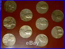 Presidential Art Medals WORLD WAR II Series Bronze Raised Relief 30 Medallions