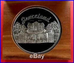 RARE Elvis Presley Graceland Welcome To My World 10 oz. Fine Silver Coin