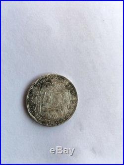 RaRE VENEZUELA 1889 1 BOLIVAR SILVER COIN