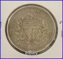 Rare 1898 Souvenir Peso Caribbean Silver Spanish American War