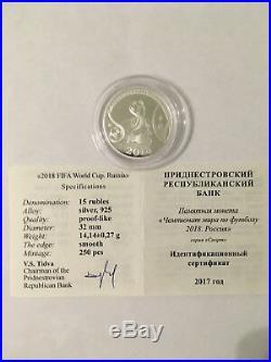 Rare 925 Silver Coin 2018 Fifa World Cup. Russia. 250 Pcs