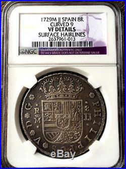 ¡¡ Rare! Silver Coin 8 Reales Of Philip V. Year 1729. Madrid. Jj