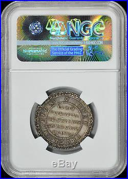 Rare Unlisted By Krause Mexico 1790 Proclamation Colonial Medal Ngc Ms62 Toned