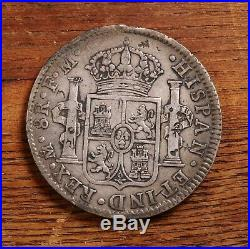 Raw 1800 Mexico Mo FM 8R Mexican Silver 8 Reales Coin