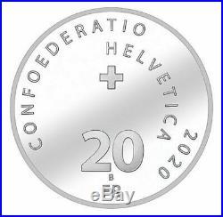 Roger Federer 20 CHF Silver Coin / Silbermünze 2020 (Kauf Bestätigt)