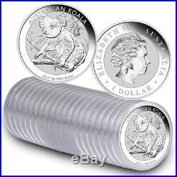 Roll of 20 2018-P Australia 1 oz Silver Koala $1 Coins GEM BU SKU49783