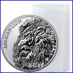 Roll of 20 2018 Republic Chad African Lion 1 oz Silver GEM BU SKU51644