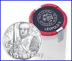 Roll of 20 2019 Austria 1 oz Silver Leopold 1.5 Euro Coins GEM BU SKU56717