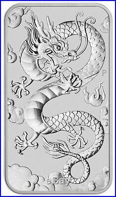 Roll of 20 2019-P Australia 1 oz Silver Dragon $1 Bar GEM BU SKU57292