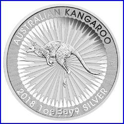 Roll of 25 2018-P Australia 1 oz Silver Kangaroo $1 Coins GEM BU SKU49773