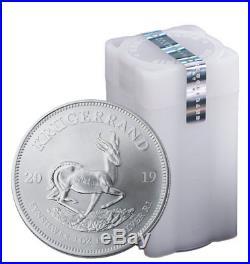 Roll of 25 2019 South Africa 1 oz Silver Krugerrand 1 Rand BU SKU56599