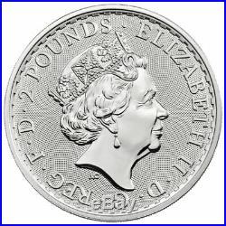 Roll of 25 2020 Britain Silver Britannia 1oz Silver Coins BU SKU59531