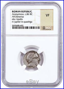 Roman Republic, Random Silver Denarius (3rd-1st Centuries BC) NGC VF SKU41864