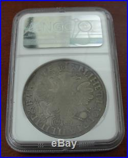Russia 1705 Silver 1 Rouble NGC VF30 Peter I RARE