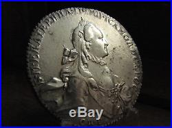 Russia Empire 1 Rouble 1765 Spb Hi Ekaterina Old Silver Coin! Look