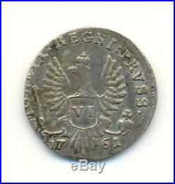 Russia for East Prussia Silver 6 Groszy 1761 VF RARE