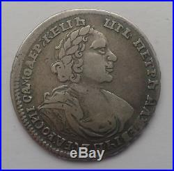 Russian silver poltina 1719. Peter-1