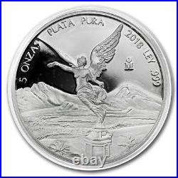 SALE PROOF LIBERTAD MEXICO 2018 5 oz Proof Silver Coin in Capsule