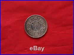 SCARCE 1911 British India King George V One Rupee Silver Coin Great Condition
