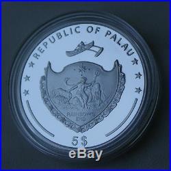 SILVER SKULL COIN MEMENTO MORI PALAU LAST ONE coin