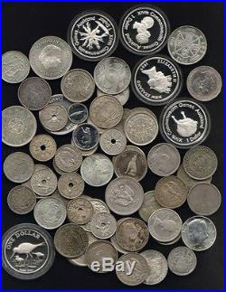 SILVER World Coins (assorted) 20oz actual SILVER content