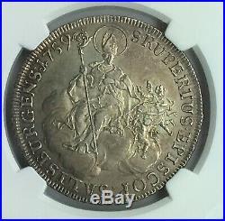 Salzburg 1759 Saint Rupert Silver Thaler NGC AU58