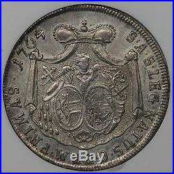 Salzburg 1764 Sigismund III Silver Thaler NGC AU53