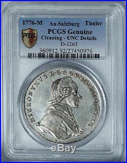 Salzburg 1776 Hieronymus Silver Thaler PCGS UNC