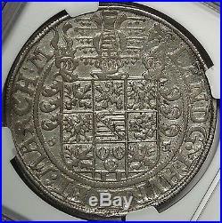 Saxe-Gotha 1565 Johann Friedrich II Silver Thaler NGC AU55