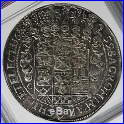 Saxony 1659 Johann George Silver Thaler NGC AU55