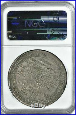 Saxony Death of Johann Georg III Taler 1691IK NGC VF 30 rare silver coin thaler