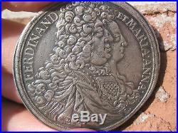 Silver Thaler 1696 Ferdinand et Maria Anna, Austria, Schwarzenberg 47 mm coin