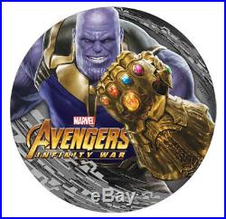 THANOS Avengers Infinity Wars Marvel 2 Oz Silver Coin $2 Fiji 2018 IN-STOCK