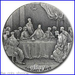 THE LAST SUPPER 2016 2 oz Silver Coin Biblical Series Scottsdale Mint NIUE