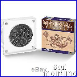 THE SIREN Mythical Creatures Series 2oz Antique Finish Silver Coin 2018 BIOT